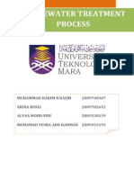 Report wastewater treatment process