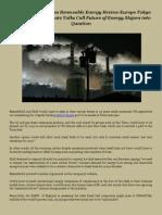 Elliott and Associates Renewable Energy Review Europe Tokyo Paris Asia
