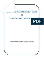 Best Practices and Bench Mark in Hydropower Generation