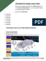 Instruction PASS CODE Calculator ENG
