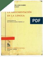 La Argumentacion en La Lengua. Gredos