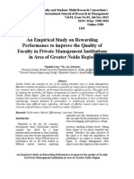 AIJRM 027 Shaifali Garg-An Empirical Study on Rewarding Performance to Improve the Quality of Faculty in Private Management Institutions in Area of Greater Noida Region