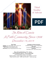 St. Rita Parish Bulletin 12/14/2014
