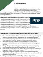 Chief Marketing Officer Job Description