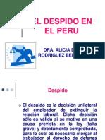 El Despido en El Peru....