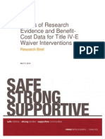 Title IV E Waiver Interventions Research Brief