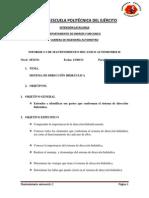 Mantenimto Informe de Sistema de Direccion Hidraulica