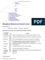 Biosphere Reserves and Forest Cover in India_2