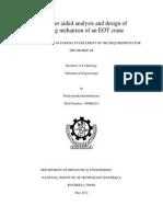 Thesis 108ME022 Hoisting Mechanism of an EOT Crane