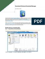 Cara Mempercepat Download Di Internet Download Manager