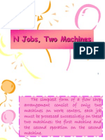Scheduling & Sequencing Njobs 2 Machines 2012
