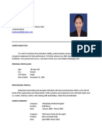 HAzel LAtest Resume With App