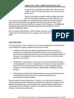 Le Cloud Computing et le SI - Offre et Différentiateurs Microsoft - Février 2009