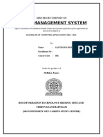 Report of Hotel Management System Santhosh Mohan