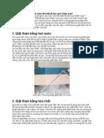 So sánh phương pháp giặt thảm hơi nước và hóa chất