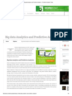 Big Data Analytics and Predictive Analytics - _ Predictive Analytics Today