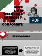 reacciones adversas de la transfución sanguínea