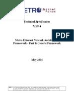 Metro Ethernet Forum v4