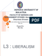 Lecture 3 Liberalism