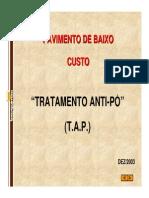 PavimentodeBaixoCusto TratamentoAnti Pó (T.a.P.)