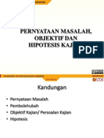 Topic4PernyataanMasalah-Objectif-HipotesisKajian