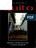 Quito - Significado y ubicación de sus calles a principios del siglo XXI.