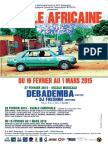 Flyer Escale Africaine 2015