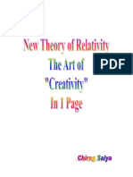 New Theory of Relativity- The Art of Creativity in 1 Page