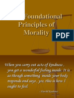 The Foundational Principles of Morality and You