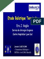 Etude de Balistique Terminale par Eric J. Voiglio