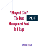 Bhagvad Gita-The Best Management Book In 1 Page
