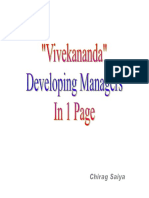Vivekananda- Developing Managers In 1 Page