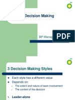 BP Decision Making