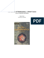 Brief history of Maths