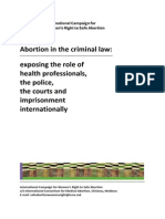 Abortion in the Criminal Law 16 Oct 2013