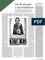As feministas de um país oficialmente sem feminismo