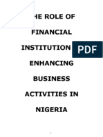 The Role of Financial Institution in Enhancing Business Activities in Nigeria