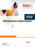 Model Requirements for Mesh Preperation in MOLDEX3D