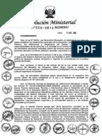 Normas y Orientaciones Para El Desarrollo Del Año Escolar 2015 en Educación Básica