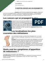 Métastases _ Quels Sont Les Cancers Qui Se Propagent Le Plus