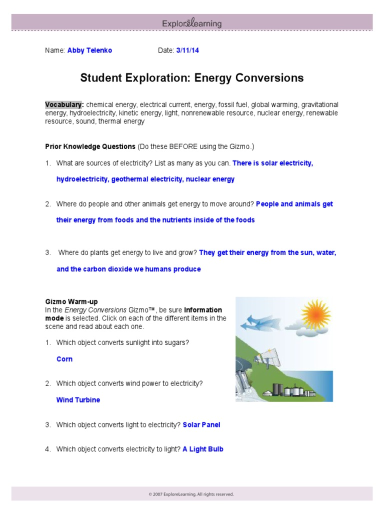 5 4 gizmo energy conversions | Wind Power | Renewable Energy