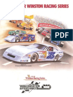 1992 Winchester Speedway Nascar Winston Racing Series Race Program