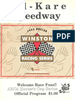 1993 Kil-Kare Speedway Nascar Winston Racing Series Race Program ARCA Edition