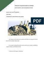 Maquinaria de Excavacion de Tierras