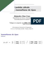 Lambda cálculo modulo isomorfismos de tipos