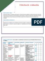 Criterios de Evaluacionprograma de Estudio Educación Inicial en Familia Comunitaria