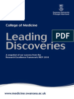College of Medicine results in the Research Excellence Framework (REF) 2014