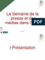 Powerpoint Presentation de la Semaine de la presse et des médias par le Clemi