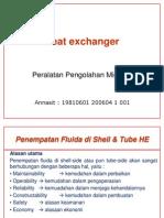 Heat Exchanger - Penempatan Fluida