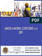 Labor and Material Coefficient for Civil Works 2009